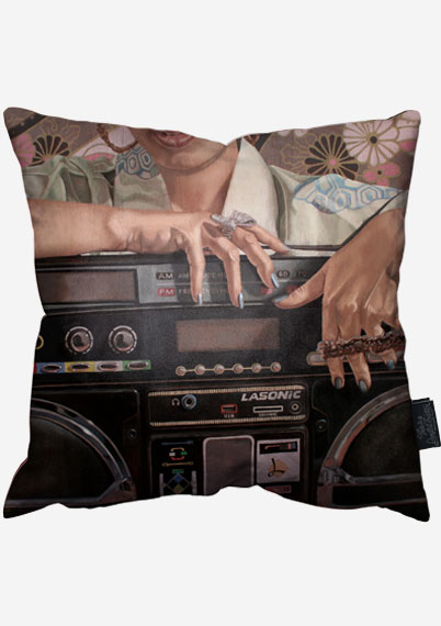 Edo Ghettoblaster Pillow